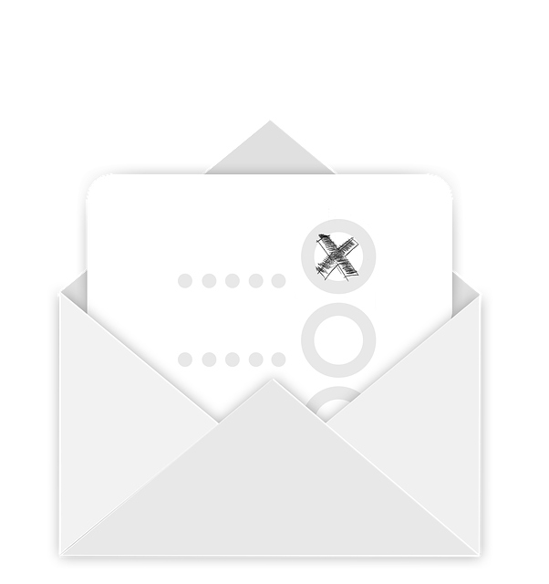 Vector image of envelope